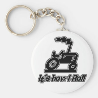 Farm Tractor How I Roll Keychain
