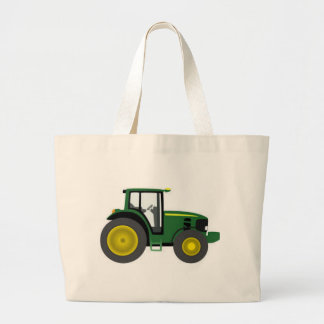 Farm Tractor Large Tote Bag