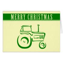 Farm Tractor Merry Christmas Card