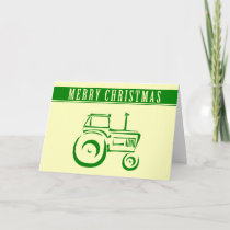 Farm Tractor Merry Christmas Holiday Card