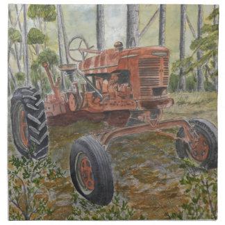 farm tractor painting cloth napkin