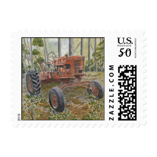 farm tractor painting postage