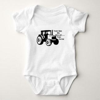 Farm Tractor Rollin' Baby Bodysuit