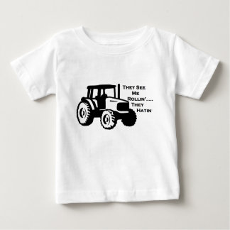 Farm Tractor Rollin' Baby T-Shirt