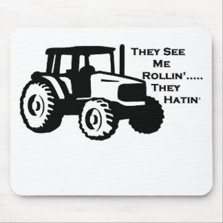 Farm Tractor Rollin' Mouse Pad