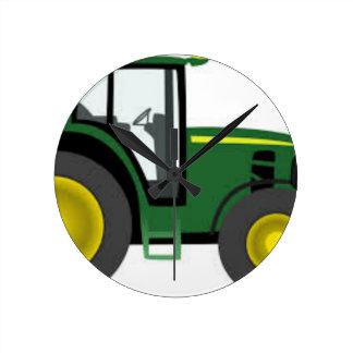 Farm Tractor Round Clock
