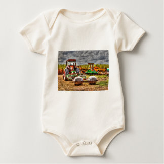 FARM TRACTOR RURAL QUEENSLAND AUSTRALIA BABY BODYSUIT
