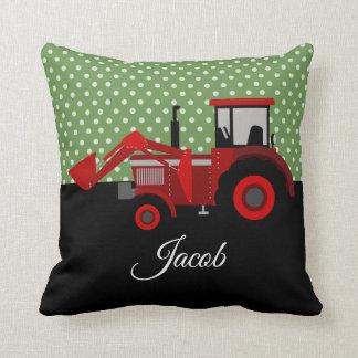 Farm Tractor Throw Pillow
