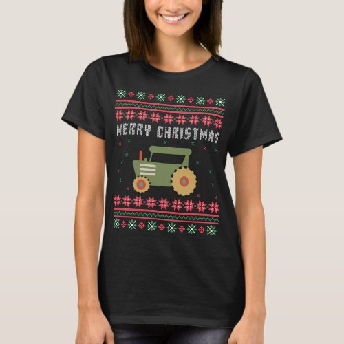 Farm Tractor Ugly Christmas Sweater After Christmas Sales 5124