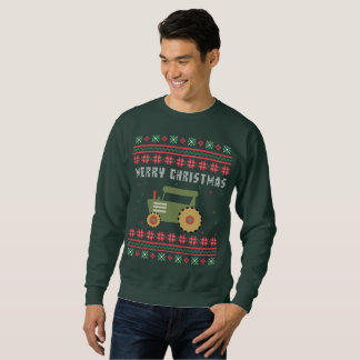 Farm Tractor Ugly Christmas Sweater
