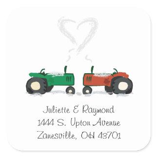 Farm Tractor Wedding Envelope Seal