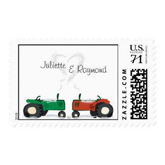 Farm Tractor Wedding Postage