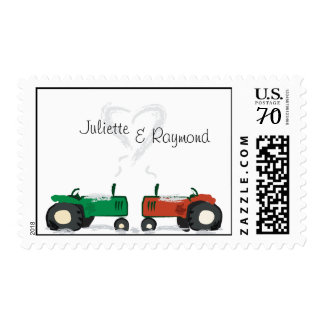 Farm Tractor Wedding Postage