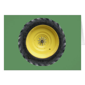 Farm Tractor Wheel Series Card