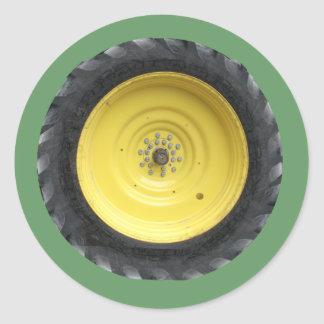 Farm Tractor Wheel Series Classic Round Sticker