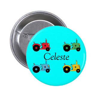 Farm Tractors Pinback Buttons