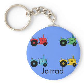 Farm Tractors Keychain