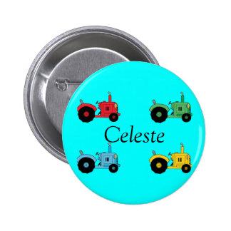 Farm Tractors Pinback Button