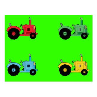 Farm Tractors Post Cards