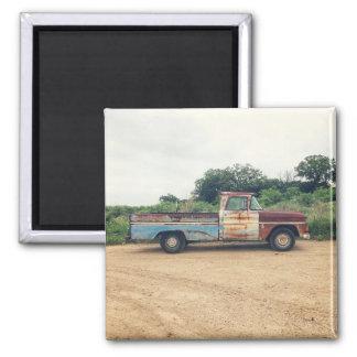 farm truck 2 inch square magnet