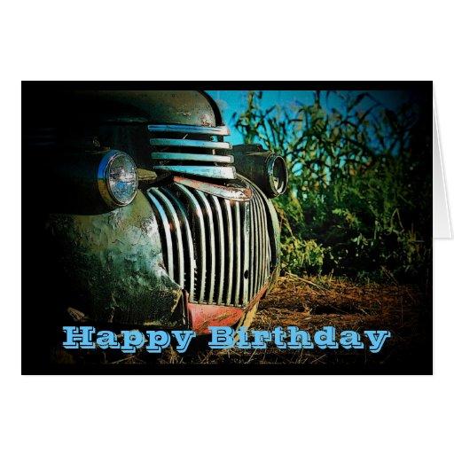 Farm Truck Birthday Card