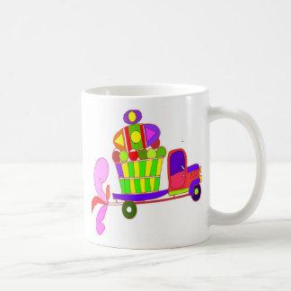 farm truck cartoon classic white coffee mug