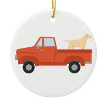 Farm Truck Ceramic Ornament