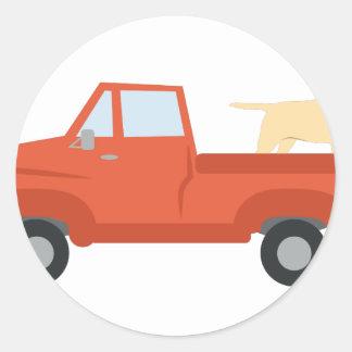 Farm Truck Classic Round Sticker
