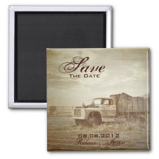 Farm Truck Western Country Wedding save the date Magnet