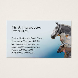 Farm vet appointment business card