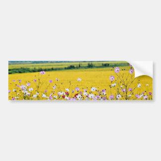 Farm village fall flowers bumper stickers