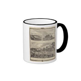 Farm, vineyard and residences in Cedar County Ringer Mug