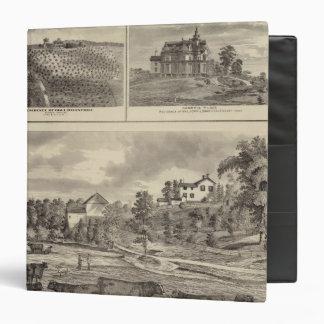 Farm, vineyard and residences in Cedar County Vinyl Binder