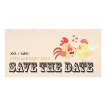 Farm Wedding Chickens Save the Date Announcement