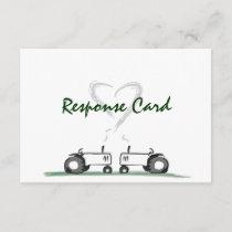 Farm Wedding RSVP Card: Classic Style