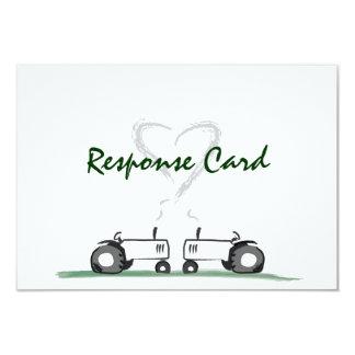 Farm Wedding RSVP Card: Classic Style Card