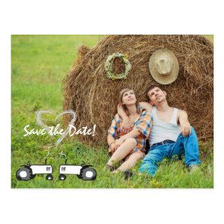 Farm Wedding Save the Date Postcard: Full Photo