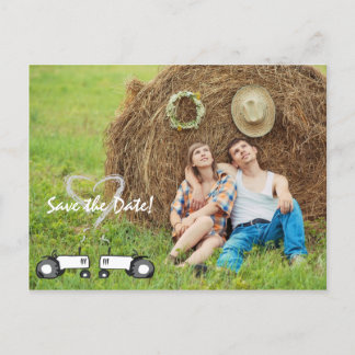 Farm Wedding Save the Date Postcard: Full Photo Announcement Postcard
