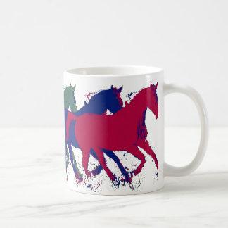 farm wild horses running coffee mug