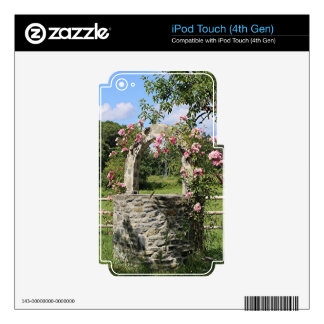 Farm wishing well and roses, Spain iPod Touch 4G Skins