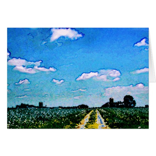 Farm with Flowers Cards - customizable