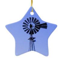 Farm with Windmill Ceramic Ornament