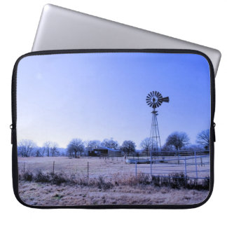 Farm with Windmill Computer Sleeve