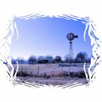 Farm with Windmill Statuette
