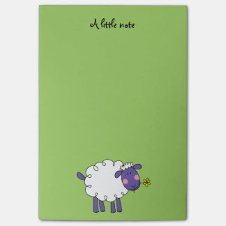 farm woolly sheep post-it notes
