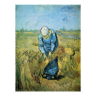 Farm worker by Vincent van Gogh Poster