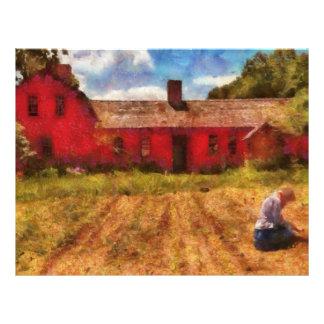 Farm - Working in the fields Letterhead Template