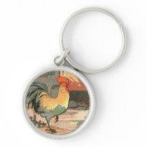 Farm Yard Rooster Keychain