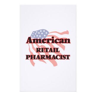 Farmacéutico al por menor americano papelería de diseño