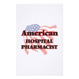 Farmacéutico americano del hospital personalized stationery